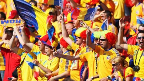Poye cu suporteri romani de la Euro 2008